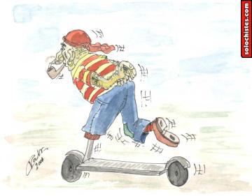 el patinete de moda